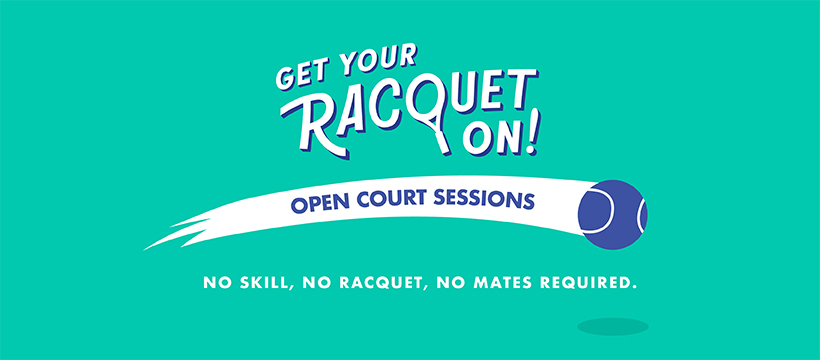 Open Court Sessions is a new adult social tennis program