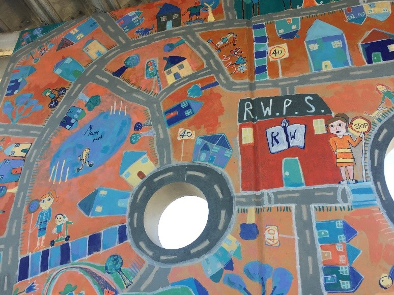 Reservoir West Primary School Active Travel Art Mural