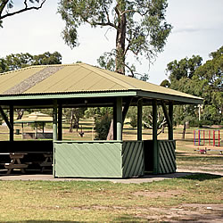 A shelter at Bundoora Park