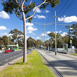A view of Plenty Road, Bundoora