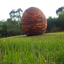 The nest artwork in Darebin Parklands, Alphington