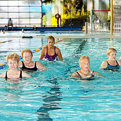 A water workout at Reservoir Leisure Centre