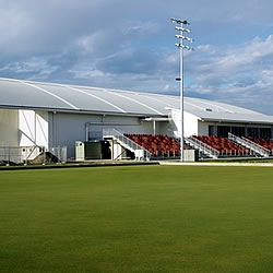 Bowling green at Darebin International Sports Centre, Thornbury